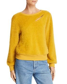 JOA - Cutout Textured Sweater