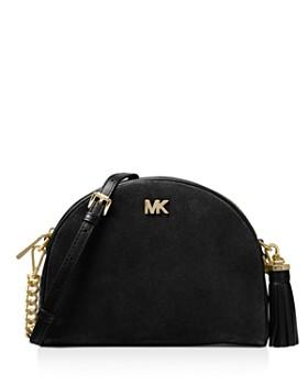 MICHAEL Michael Kors - Medium Half Moon Suede & Leather Crossbody