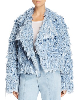 Ksenia Schnaider - Faux-Fur Denim Jacket