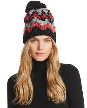 0f2e7bc74f3 AQUA - Fairisle Pom-Pom Hat - 100% Exclusive