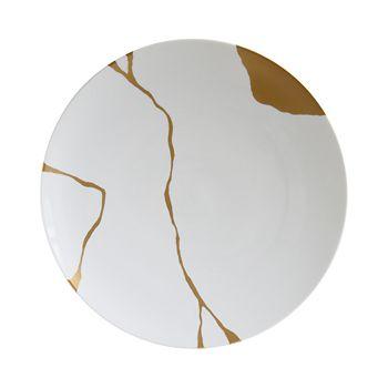 Bernardaud - Kintsugi-Sarkis 24K Gold Coupe Plate