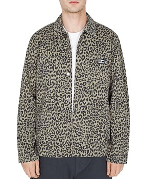 OBEY - Hard Work Leopard-Print Utility Jacket
