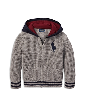 Polo Ralph Lauren Boys' Waffle-Knit Hoodie - Little Kid