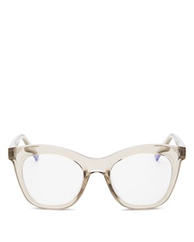 The Book Club - Women's Harlot's Bed Cat Eye Blue Screen Filter Glasses, 54mm