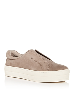 J/Slides Women's Heidi Leather Slip-On Platform Sneakers