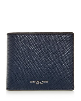 Michael Kors - Harrison Crossgrain Leather Bi-Fold Wallet