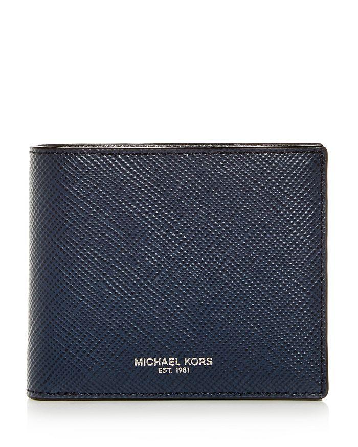 Michael Kors - Harrison Crossgrain Leather Bi-Fold Wallet