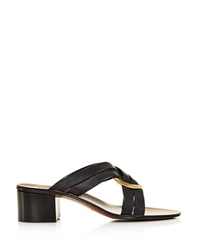 Chloé - Women's Rony Leather Mid-Heel Sandals