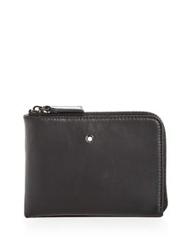 0755732453a4 Montblanc - Nightflight Leather Zip Card Holder ...