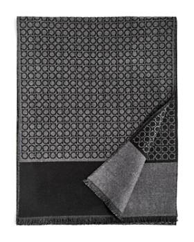 Salvatore Ferragamo - Small Gancini Print Reversible Scarf