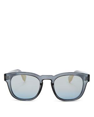 Le Specs Men's Block Party Mirrored Square Sunglasses, 47mm