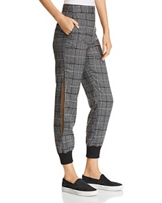 Marled - Plaid Slit-Leg Jogger Pants