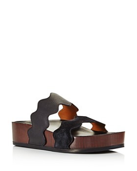 261be6e44b4 Chloé - Women s Lauren Leather Slide Sandals ...