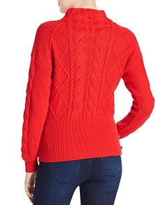 Marled - Cable-Knit Button Sweater