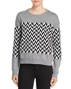 Minnie Rose - Chevron Merino Wool Sweater