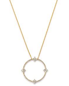 "KC Designs - 14K Yellow Gold Modern Circle Diamond Pendant Necklace, 18"""