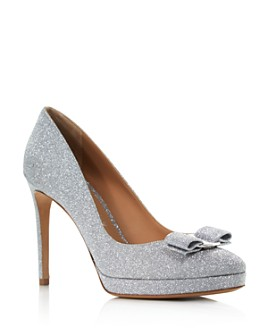 Salvatore Ferragamo - Women's Glitter Leather Platform Pumps