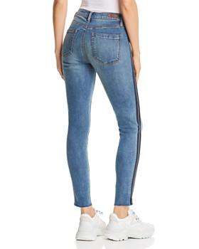 BLANKNYC - Zip Tuxedo Stripe Skinny Jeans in Jersey Girl