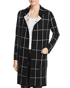 Minnie Rose - Reversible Windowpane Sweater Coat