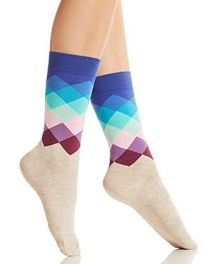 Happy Socks Faded Diamond Crew Socks