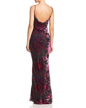 LIKELY - Midori Floral Velvet Burnout Gown