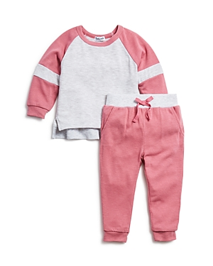 Splendid Girls ColorBlocked Sweater Top  Jogger Pants Set  Baby