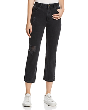 Dl DL1961 JERRY VINTAGE HIGH RISE STRAIGHT JEANS IN STONE