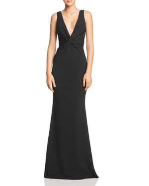 KATIE MAY Tay Twist-Detail Gown - 100% Exclusive in Black