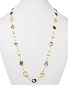 Marco Bicego - 18K Yellow Gold Lunaria Black Mother of Pearl Long Station Necklace Pearl, 36""