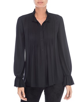B Collection by Bobeau - Ruby Pintucked Blouse