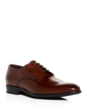 TO BOOT NEW YORK Men'S Dwight Leather Plain Toe Oxfords in Cognac Leather