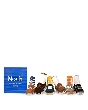 Trumpette Boys' Noah Boat-Shoes-Print Socks, Set of 6 - Baby
