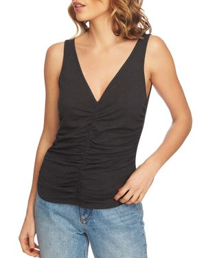 1.state Ruched V-Neck Tank