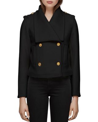 Double Breasted Button Front Coat by Mackage