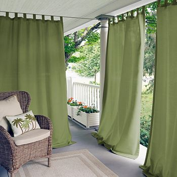 "Elrene Home Fashions - Matine Indoor/Outdoor Window Panel, 52"" x 84"""