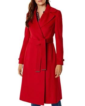 KAREN MILLEN - Belted Double-Breasted Coat - 100% Exclusive