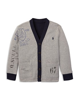 Ralph Lauren - Boys' Collegiate Reversible Fleece Cardigan - Little Kid