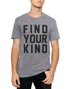 KID DANGEROUS Kind Campaign Find Your Kind Graphic Tee in Heather Gray