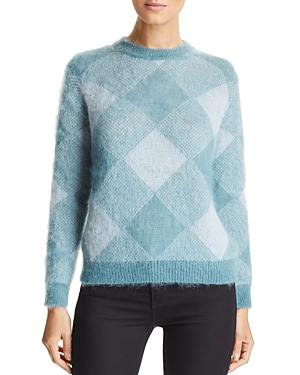 Emporio Armani Tonal Plaid Sweater