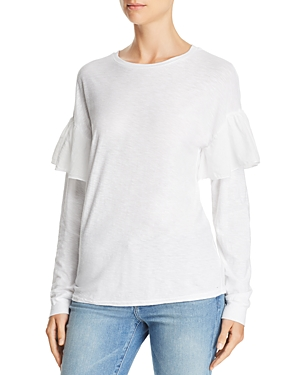 Michelle by Comune Hansville Ruffle-Sleeve Tee