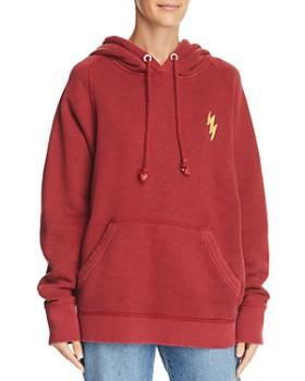 rag & bone/JEAN - Racer Lightning Hooded Sweatshirt