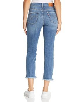 Levi's - 724 Straight Crop Jeans in Indigo Pixel
