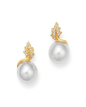 Tara Pearls - 14K Yellow Gold Diamond & South Sea Cultured Pearl Drop Earrings