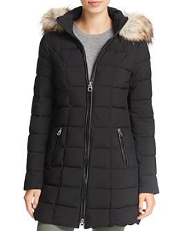 Laundry by Shelli Segal - Faux Fur Trim Hooded Puffer Coat