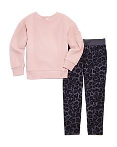 Splendid - Girls' Waffle-Knit Shirt & Leopard-Print Pants Set - Little Kid, Big Kid