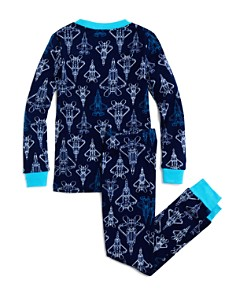 Dream Life - Boys' Spaceship-Print Shirt & Pants Pajama Set - Little Kid