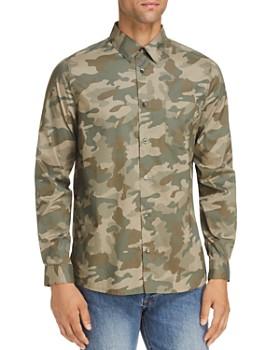 A.P.C. - Chemise Camo Woven Button-Down Shirt