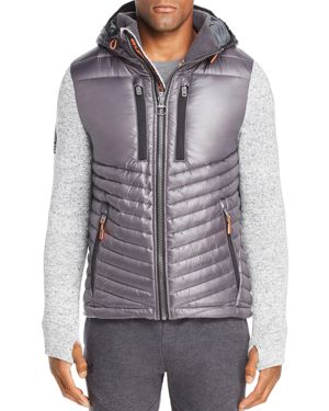 SUPERDRY Storm Hybrid Jacket in Light Gray Grit