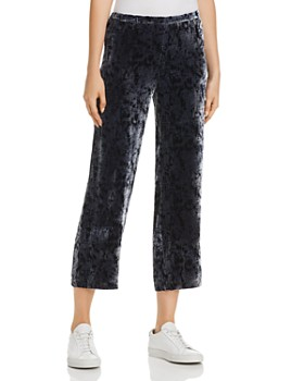 Eileen Fisher - Splatter-Print Velvet Cropped Pants - 100% Exclusive
