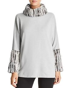 Capote - Fleece Faux-Fur Turtleneck Sweater
